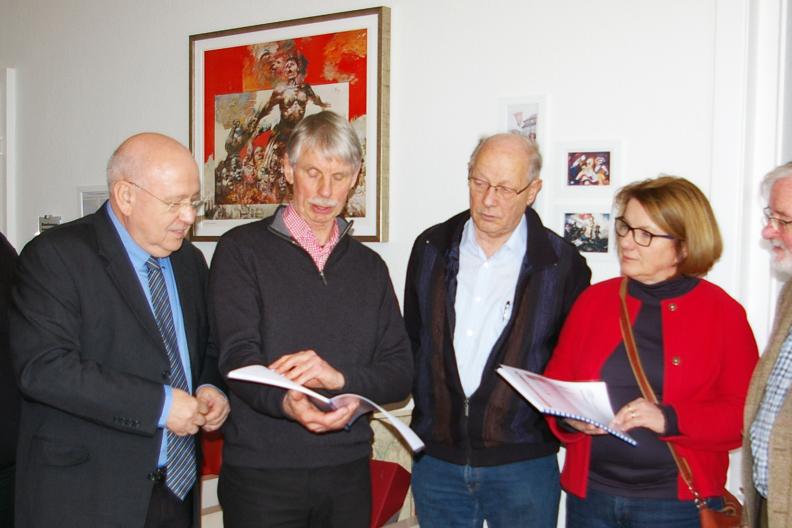 Bei der Vorstellung des neuen Hustedt-Archivs
