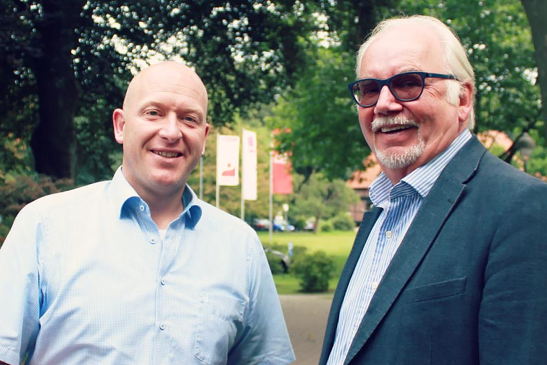Heinz-Hermann Witte, Vorsitzender (r.) und Carsten Maaß, Stellvertretender Vorsitzender (li.)