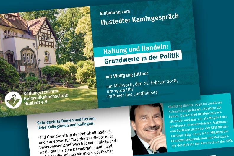 Einladung zum Hustedter Kamingespräch mit Wolfgang Jüttner