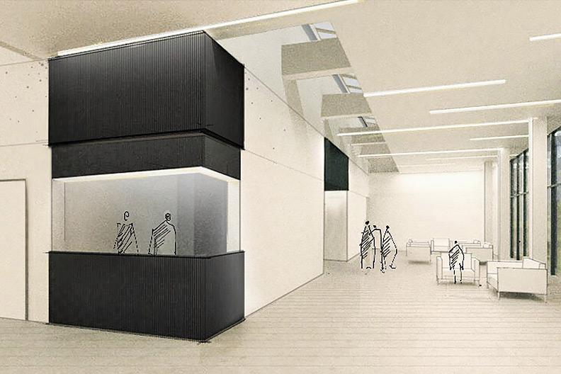 Voransicht des Foyers im neuen Zentrum