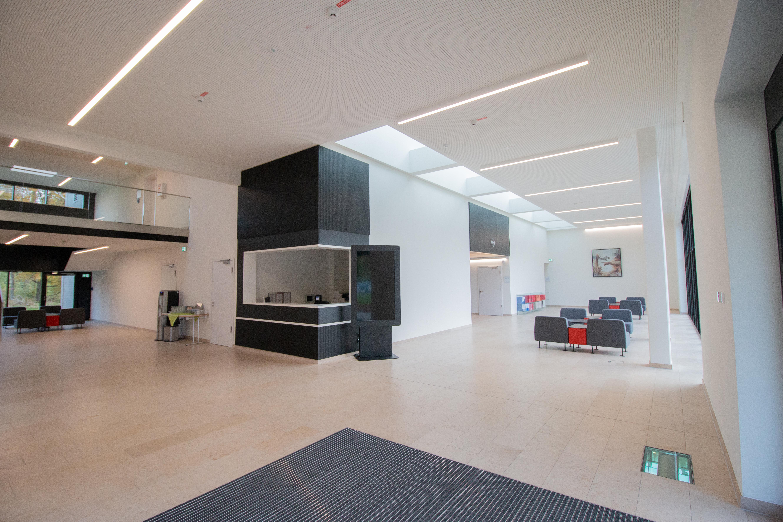 'Ansicht des Foyers im neuen Zentrum